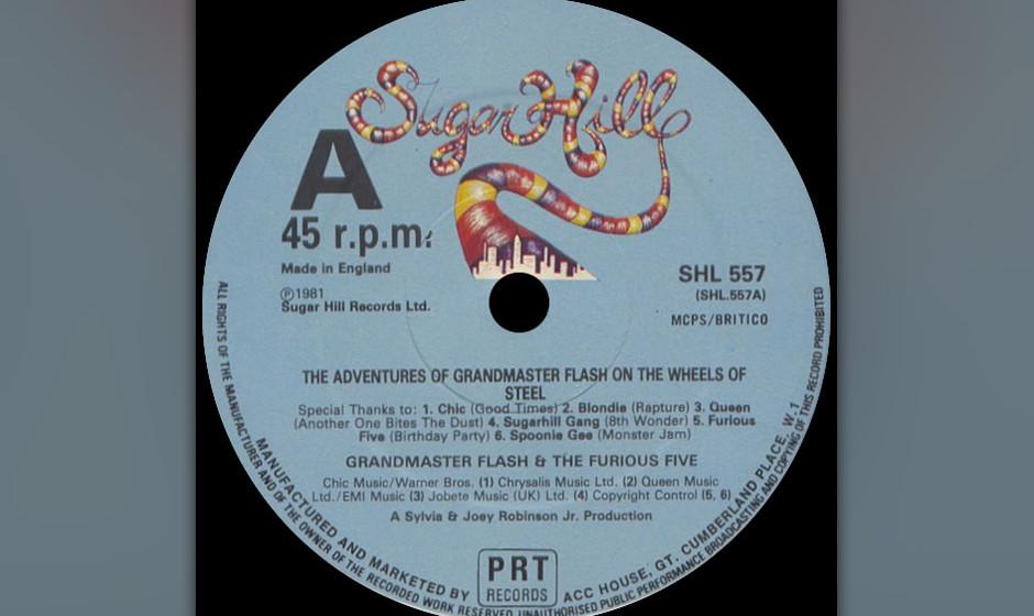 49. Grandmaster Flash and the Furious Five - 'Adventures of Grandmaster Flash on the Wheels of Steel' (1981) Mit der Verwendu
