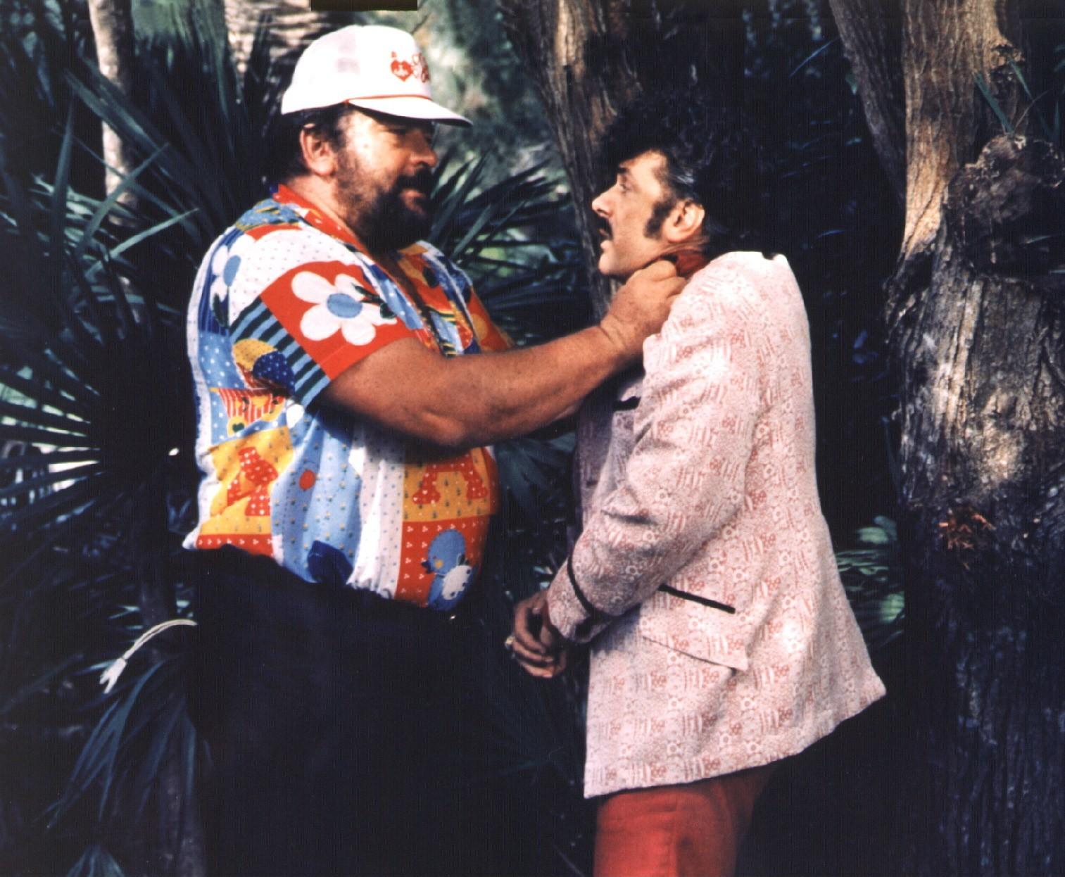 Bud, der Ganovenschreck (Cane e gatto, IT/USA 1982, Regie: Bruno Corbucci) Bud Spencer, Tomas Milian / dicker Mann packt schm