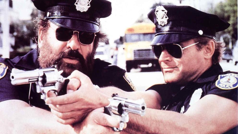 Miami Super Cops  (1985) Bud Spencer, Terence Hill FBI-Agenten Steve Forrest (Bud Spencer,l) und Doug Bennet (Terence Hill) u