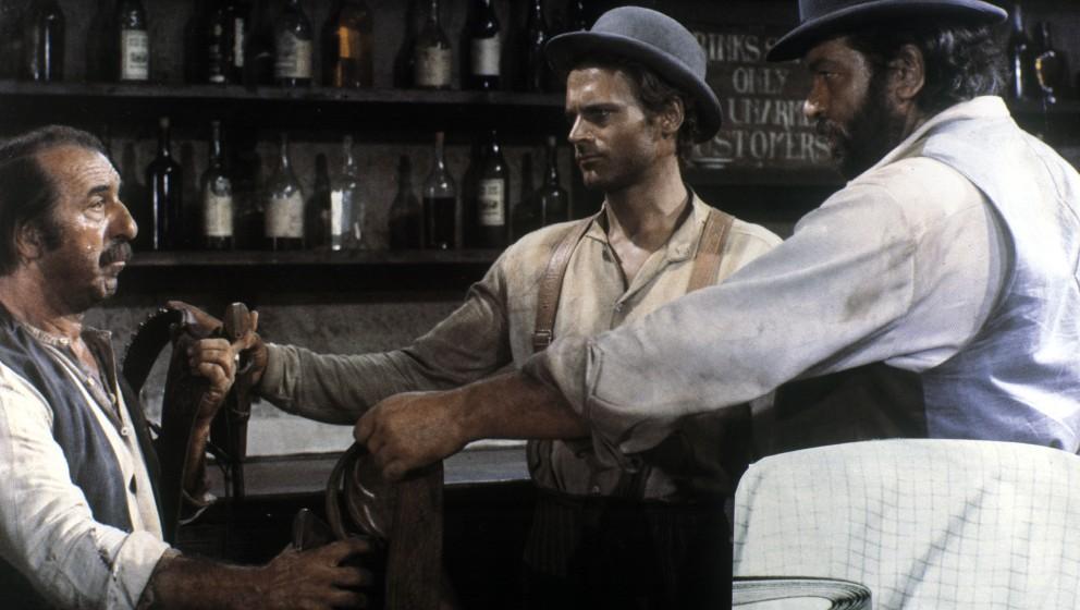 85471 (9002126) Terence HILL (bürgerlich Mario Girotti, mi., *29.03.1939), italienischer Schauspieler, zusammen mit Bud SPEN
