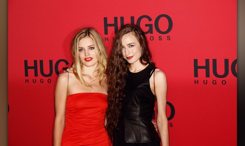 Georgia May Jagger (L) and Elisabeth Jagger attend the Hugo Show during Mercedes-Benz Fashion Week Berlin Spring/Summer 2012