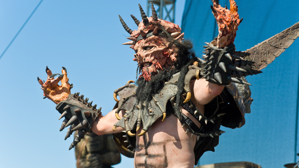 CHICAGO, IL - SEPTEMBER 15:  GWAR performs during 2012 Riot Fest at Humboldt Park on September 15, 2012 in Chicago, Illinois.
