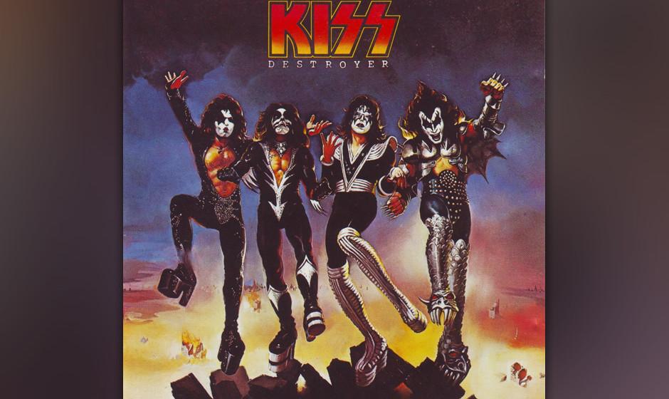 21. Kiss: 'Destroyer' (1976) Alice-Cooper-Produzent Bob Ezrin verpasste der bisher grobkörnigen Comicwelt von Kiss Tiefensch