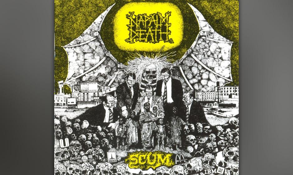 49. Napalm Death: 'Scum' (1987) Zwei Seiten, zwei fast komplett unterschiedliche Bands, aber das gleiche künstlerische Ethos