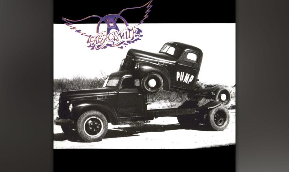 """60. Aerosmith: 'Pump' (1989) Nach dem Comeback mit dem poppigeren """"Permanent Vacation"""" legte man noch einen drauf. Oder z"""