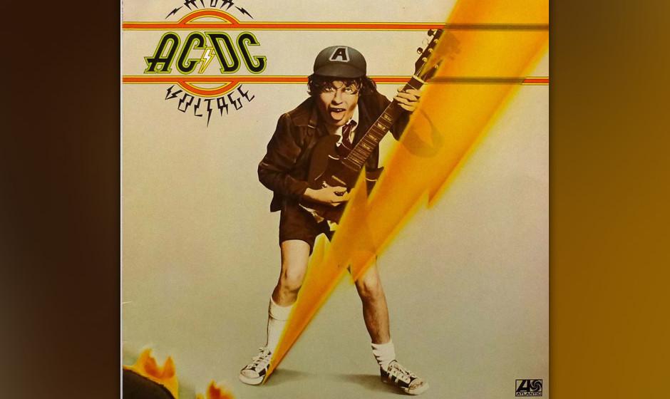 """64. AC/DC: 'High Voltage' (1976) Erste Veröffentlichung auf dem internationalen Markt mit """"Live Wire"""", dem Party-Abkoche"""