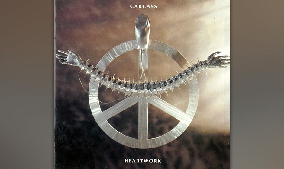 74. Carcass: 'Heartwork' (1993) Es sollte ein kommerzieller Erfolg werden, das vierte Album der Grindcore-Prügelknaben, aber