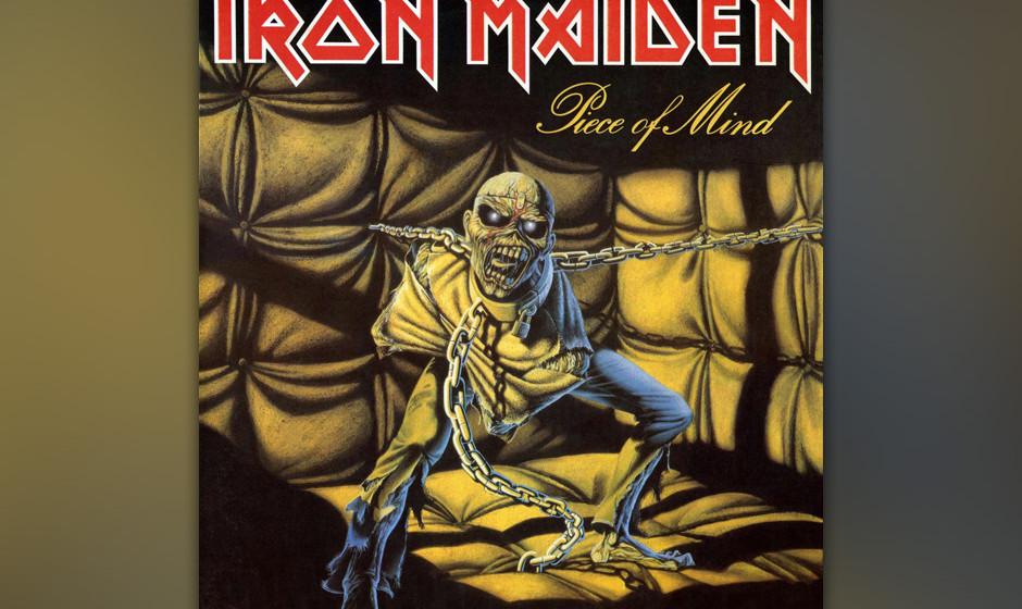 75. Iron Maiden: 'Piece Of Mind' (1983) Neuzugang Nicko McBrain stellt sich gleich mit einem kleinen Drum-Intro vor. Und Stev