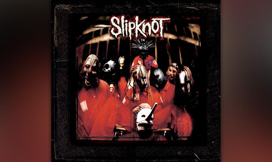 87. Slipknot: 'Slipknot' (1999) Weiße Overalls, Horrormasken und hundsgemeine Bühnenaction, dazu eine Musik, die Rap, Thras