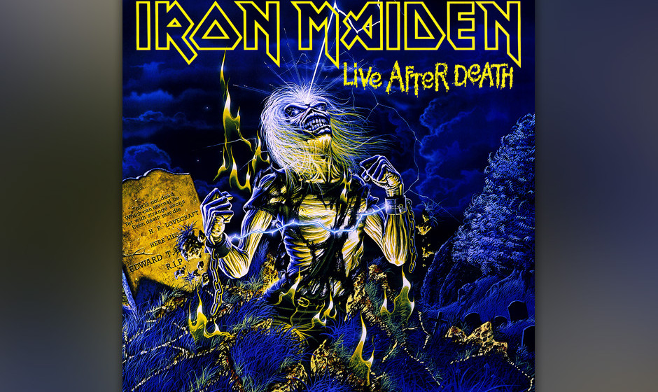 "95. Iron Maiden: 'Live After Death' (1985) ""Scream for me, Long Beach! Scream for me, Long Beach ..."" Unerreichte, vor Sp"