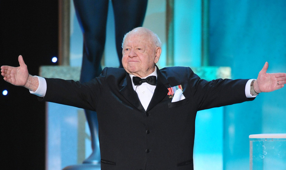 Actor Mickey Rooney on stage at the TNT/TBS broadcast of the 14th Annual Screen Actors Guild Awards at the Shrine Auditorium