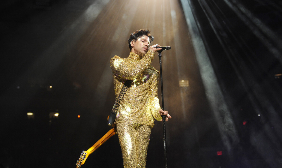 (EXCLUSIVE, Premium Rates Apply) (Exclusive Coverage) Prince performs during his 'Welcome 2 America' tour at Madison Square G