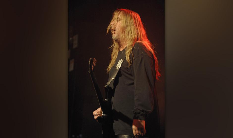 Slayer, hier Jeff Hanneman, der Gitarrist und Mitbegrv∫nder: Die Thrash-Metal-Band aus Kalifornien beim Konzert am 07.06.20