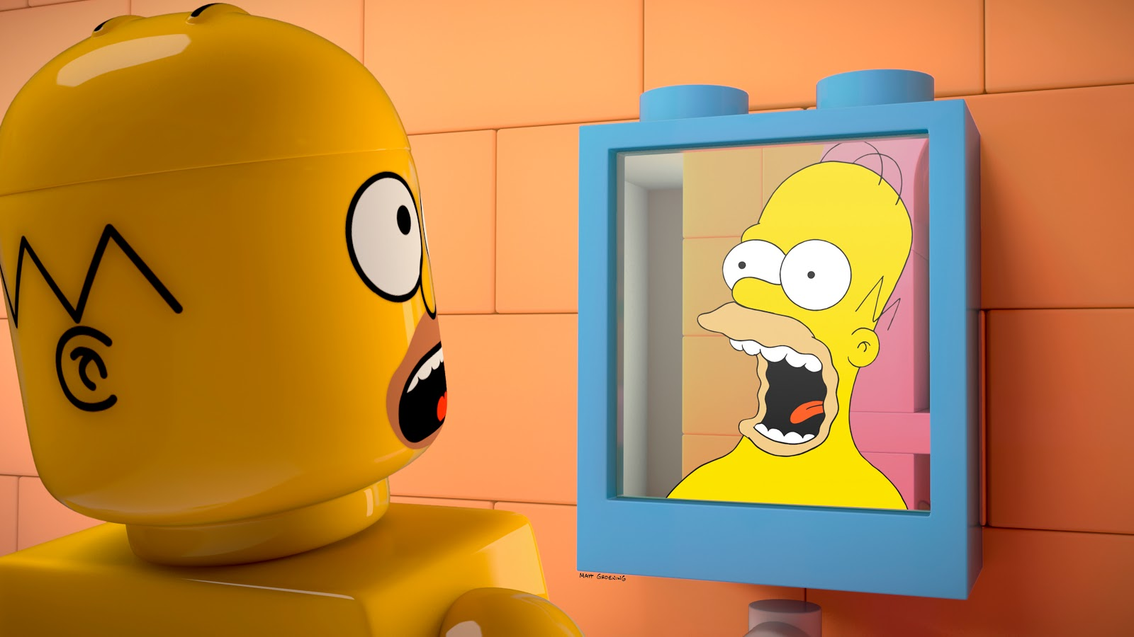 "THE SIMPSONS: Homer wakes up in a world where his family and everyone in Springfield are made of Legos and must ""put tog"