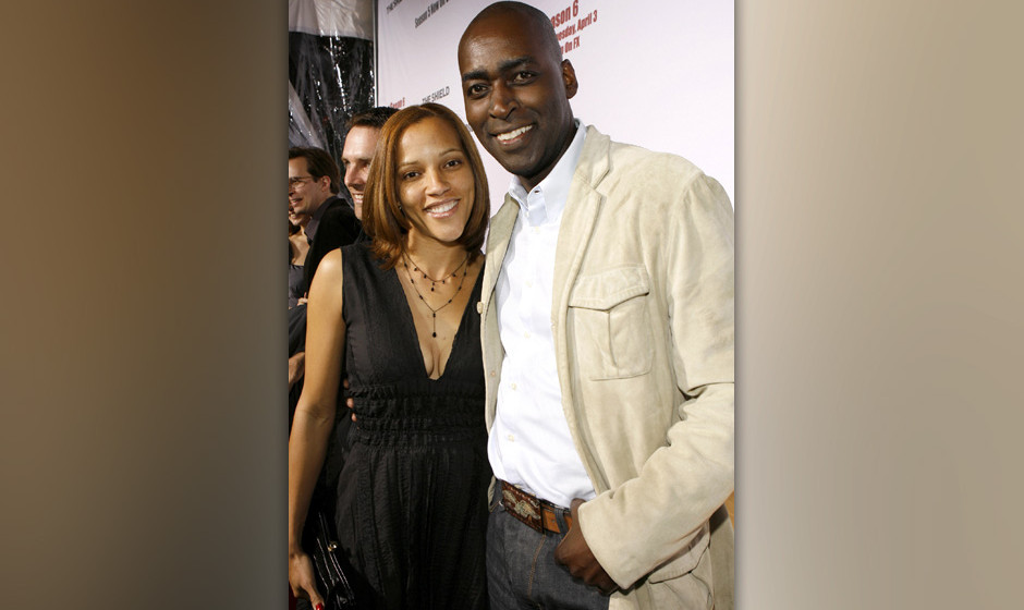 Michael Jace (right) and April Jace  during 'The Shield' Season 6 Premiere and Season 5 DVD Launch Party - Red Carpet at Caba