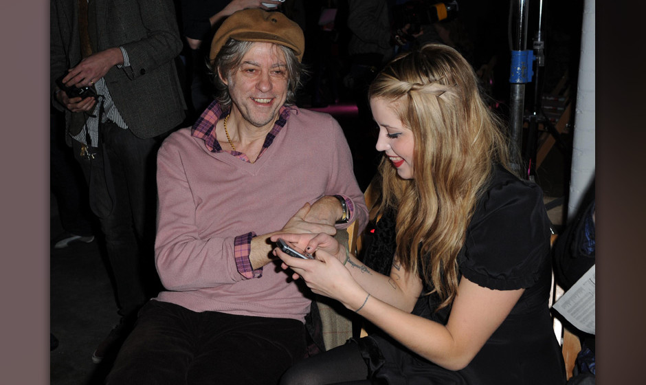 London Fashion Week Autumn 2009 - Luella Show.Sir Bob Geldof (Left) and daughter Peaches Geldof during the Luella show at Lon