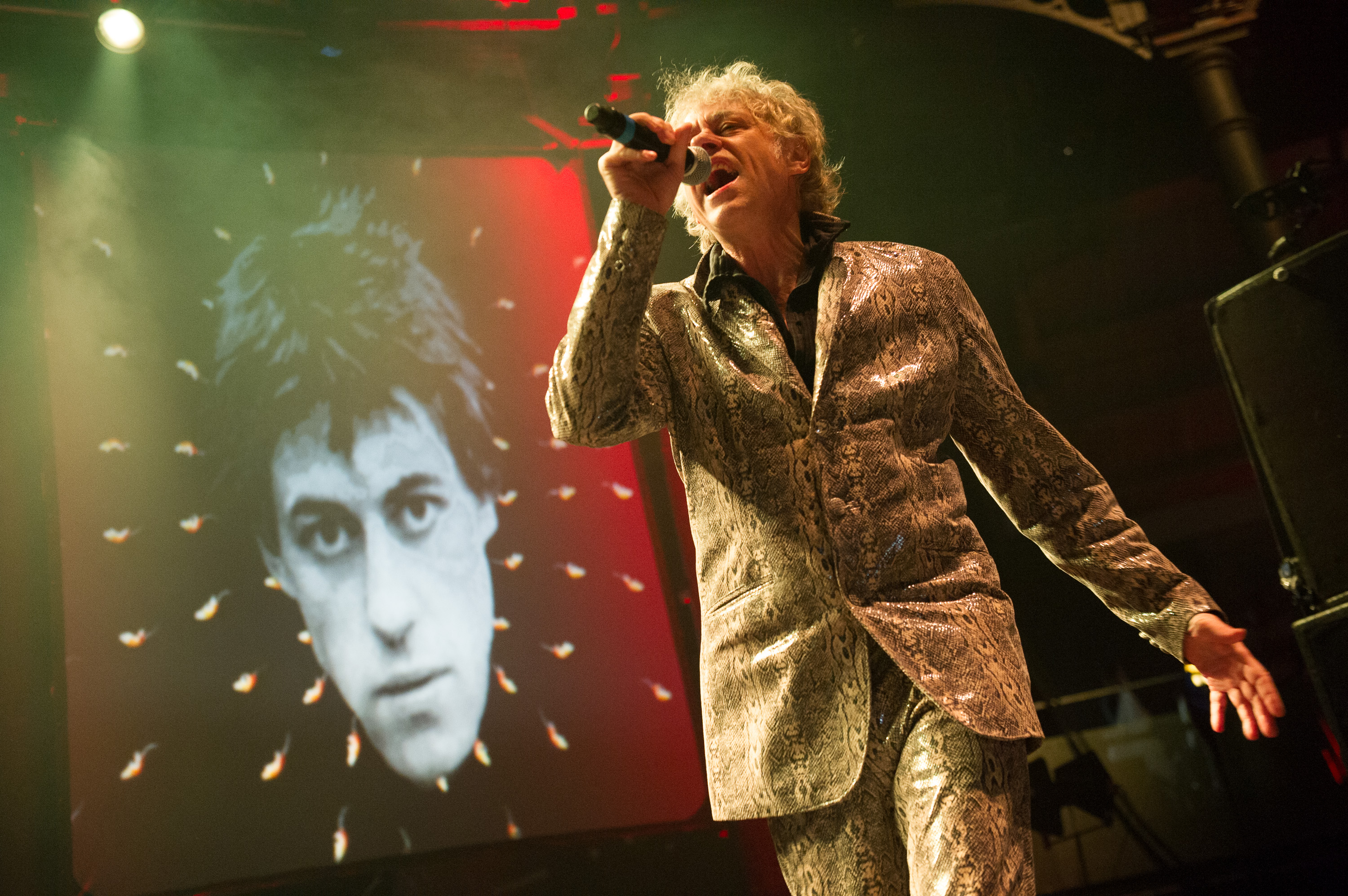 Irish New Wave band The Boomtown Rats perform at The Roundhouse, London, England, UK on 26th October 2013. The band consists