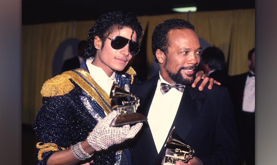 Michael Jackson 1994 Grammy awards with Quincy Jones (Photo by Chris Walter/WireImage)