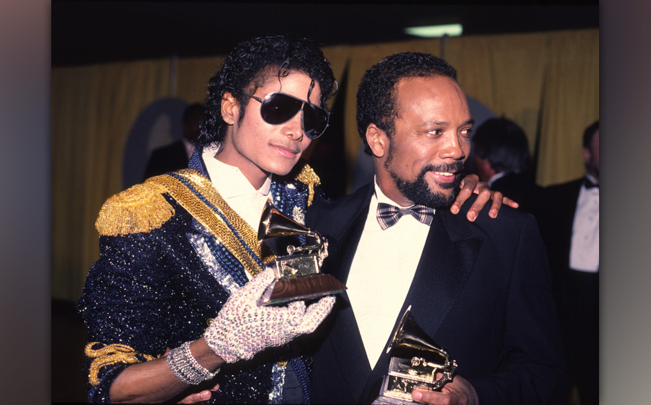Michael Jackson 1994 Grammy awards with Quincy Jones (Photo by Chris Walter/WireImage)