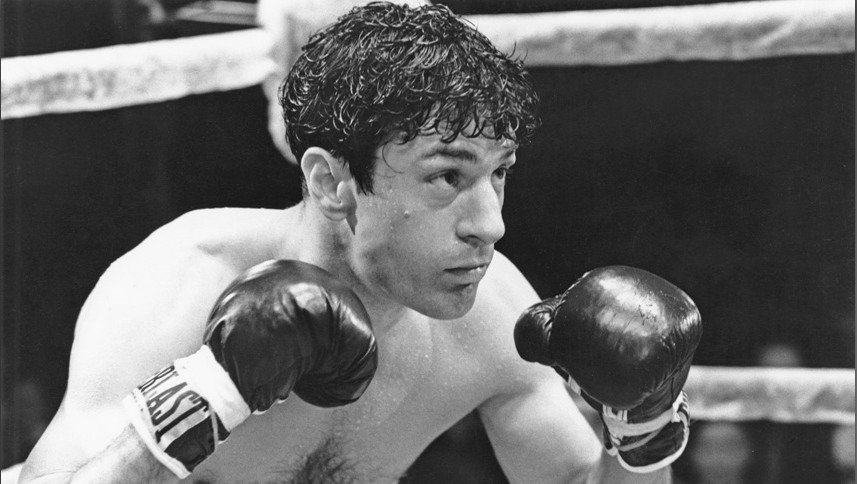 American actor Robert De Niro as boxer Jake LaMotta in a scene from 'Raging Bull', directed by Martin Scorsese, 1980. (Photo