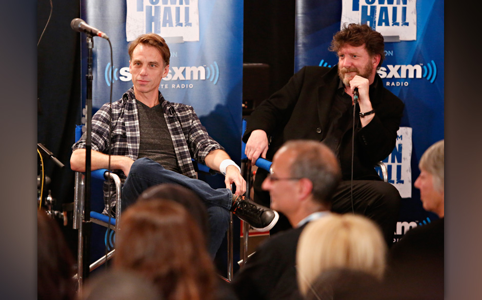 NEW YORK, NY - NOVEMBER 14:  Matt Cameron and Ben Shepherd of Soundgarden participate in a Q&A before they perform for Si