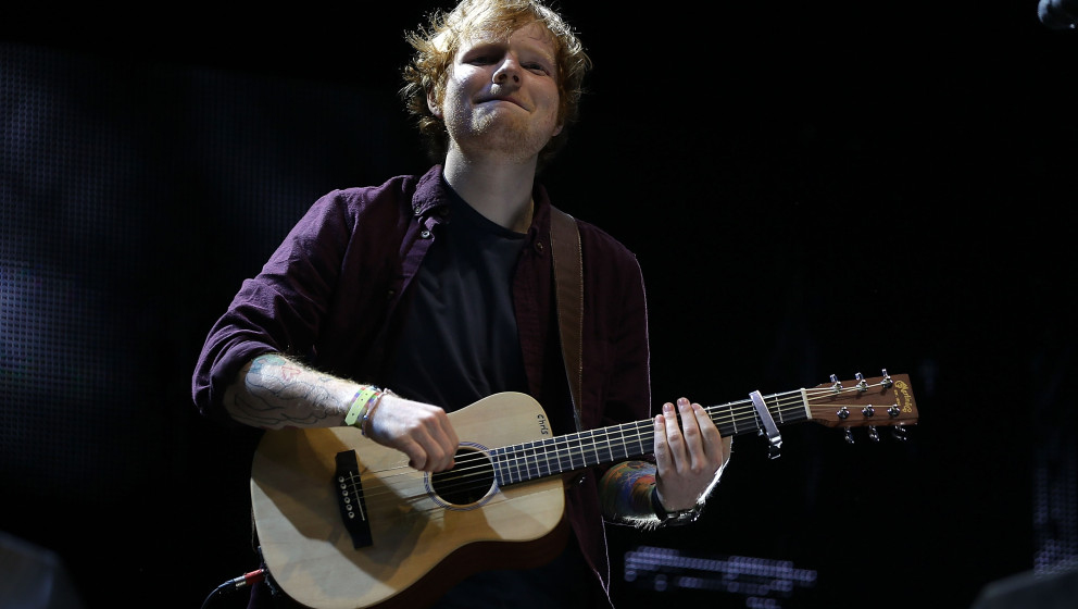 NEUHAUSEN, GERMANY - JUNE 20:  Ed Sheeran performs on day 1at the Southside Festival 2014 on June 20, 2014 in Neuhausen, Germ