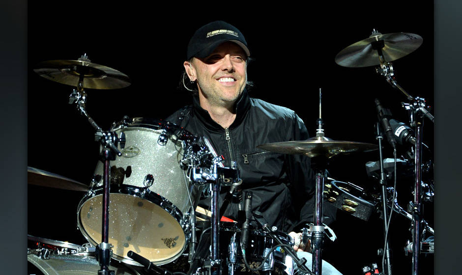 LOS ANGELES, CA - MAY 12:  Musician Lars Ulrich of Metallica performs onstage at the 10th Annual MusiCares MAP Fund Concert t