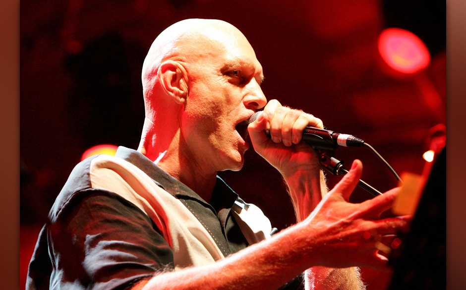 SYDNEY, AUSTRALIA - JANUARY 28:  Former Midnight Oil frontman and politician Peter Garrett performs at the Rogue's Gallery co