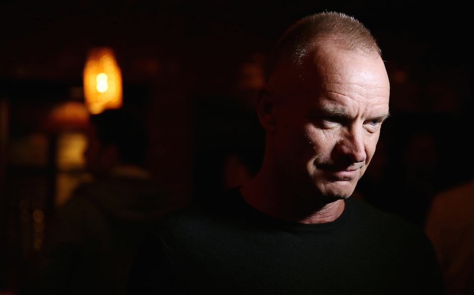 NEW YORK, NY - OCTOBER 13:  Sting attends The Culture Project's 'The Seagull' opening night party at B Bar and Grill on Octob