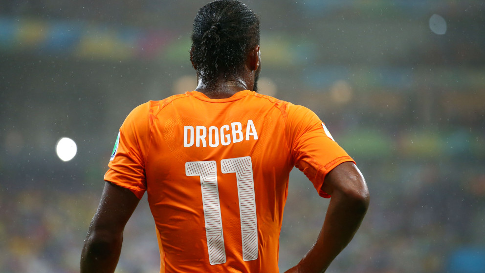 RECIFE, BRAZIL - JUNE 14: Didier Drogba of the Ivory Coast during the 2014 FIFA World Cup Brazil Group C match  between the I