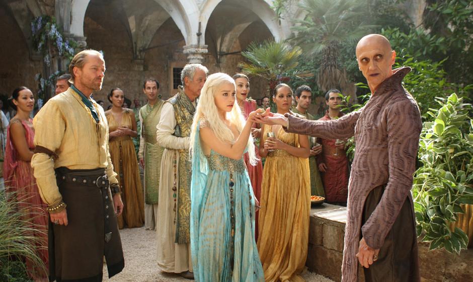 1HBO's  'Game of Thrones' season 2Dany- Emilia ClarkeJorah-  Ian GlenDoreah-  Roxanne Mc KeeIrri-  Amrita AchariaKava