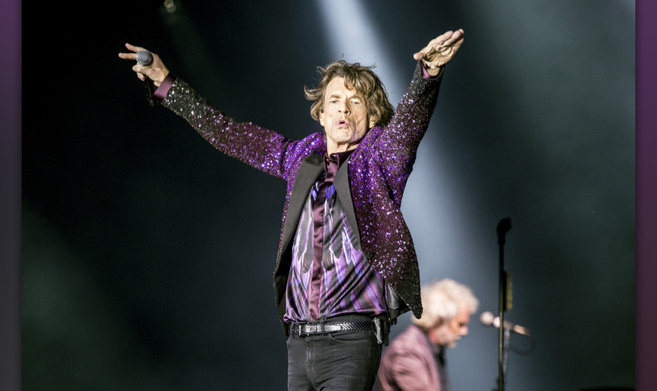 ROSKILDE, DENMARK - JULY 03:  Mick Jagger from the Rolling Stones headlines the Roskilde Festival 2014 on July 3, 2014 in Ros