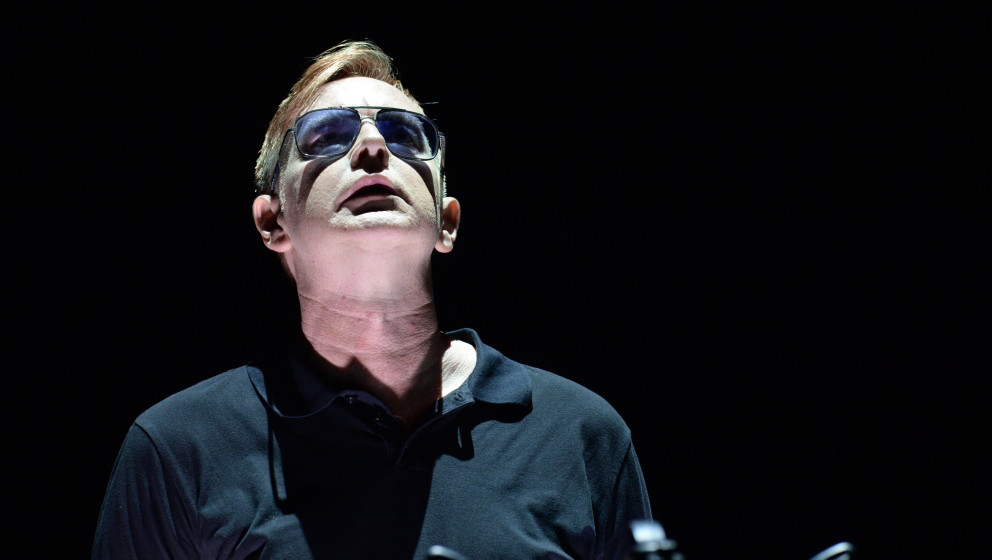 2208816 Russia, St. Petersburg. 06/24/2013 Andy Fletcher of the legendary Depeche Mode band performs at a concert at Peterbur