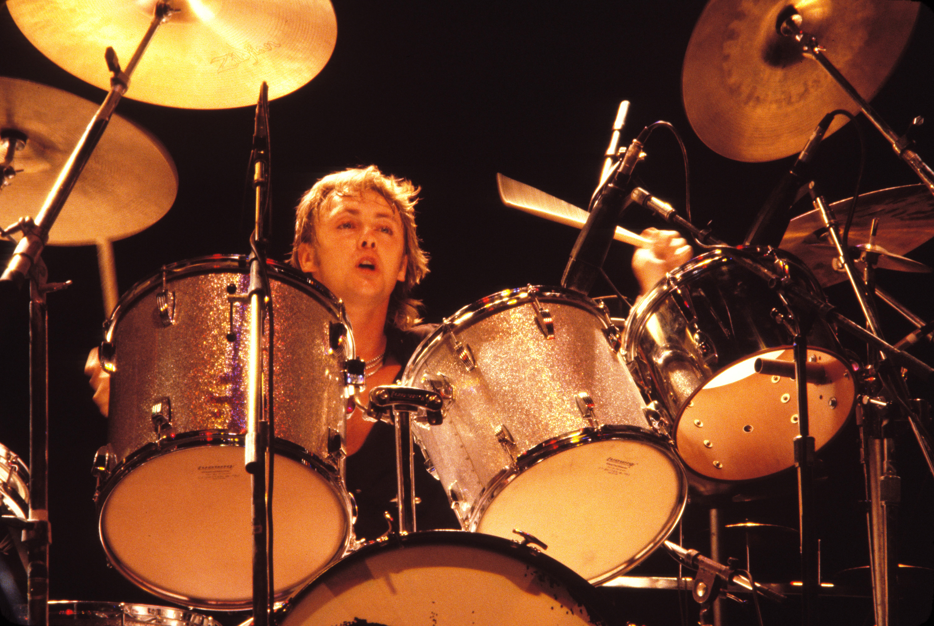 Roger Taylor of Queen on 'Jazz Tour 1980' (Photo by Steve Jennings/WireImage)