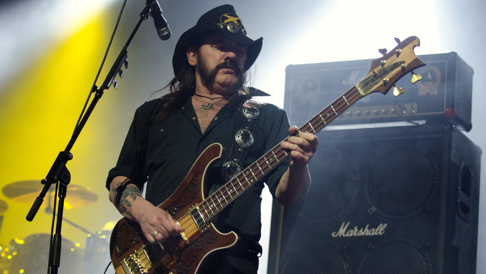 CHICAGO, IL - FEBRUARY 10: Lemmy Kilmister of Motorhead performs at the Aragon Ballroom on February 10, 2012 in Chicago, Illi