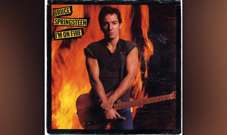 """34. 'I'm On Fire' (1984)  Entstanden in der ersten Aufnahmesession für """"Born In The U.S.A."""", strotzt """"I'm On Fire�"""