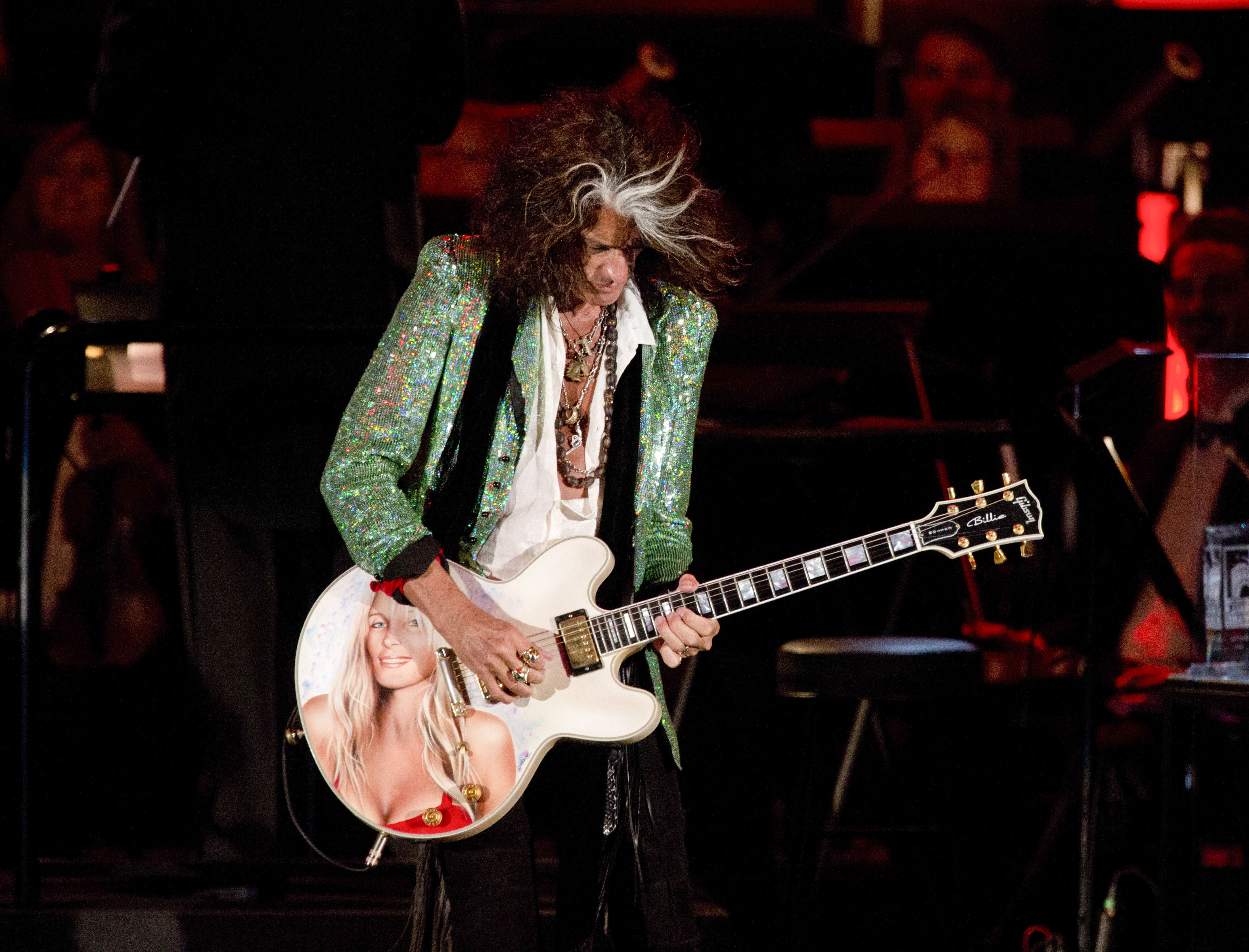 LOS ANGELES, CA - JUNE 22:  Recording artist Joe Perry performs at Hollywood Bowl Opening Night Gala - Inside at The Hollywoo