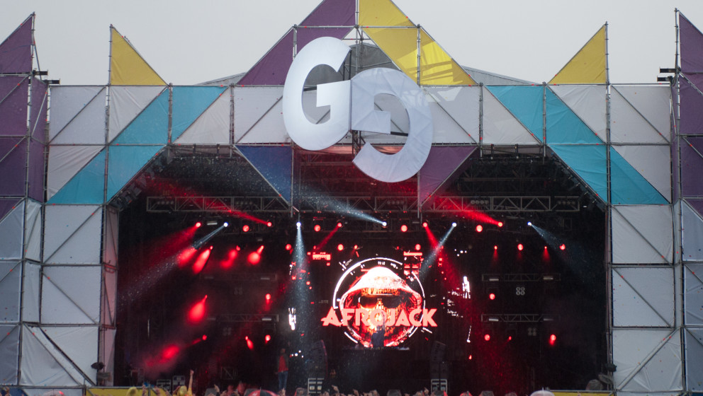 STRATFORD-UPON-AVON, UNITED KINGDOM - JULY 27: Afrojack performs on stage on Day 2 of Global Gathering 2013 on July 27, 2013