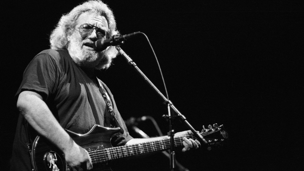Jerry Garcia of the Grateful Dead performs in concert circa 1987. (Photo by L. Busacca/WireImage)