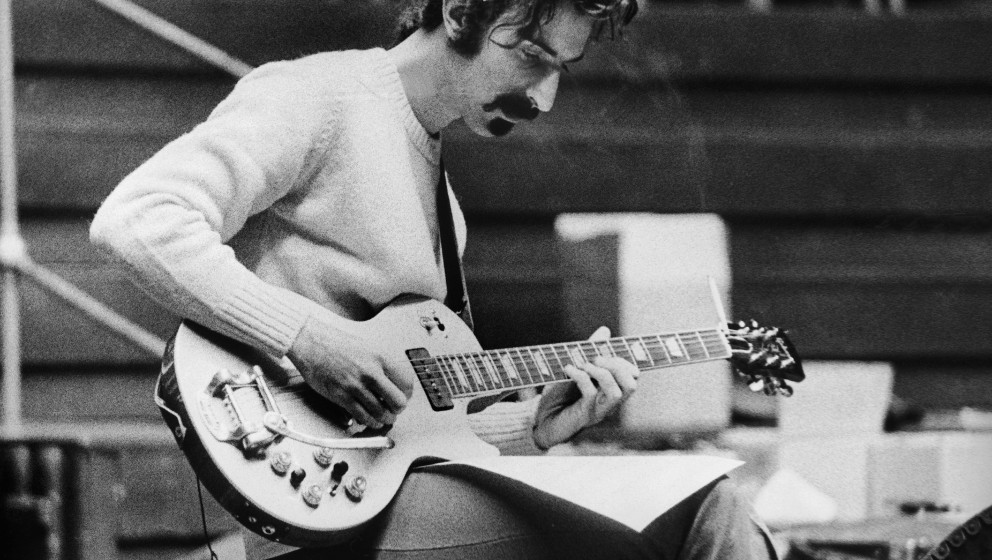 UNITED KINGDOM - JUNE 06:  The Guitarist, Singer And American Composer Frank Zappa, Leader Of The Mothers Of Invention, Repea