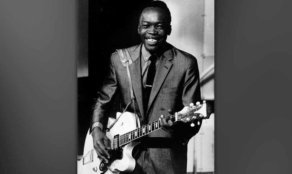 American singer, songwriter and guitarist John Lee Hooker (1917 - 2001), circa 1955. (Photo by Val Wilmer/Redferns/Getty Imag