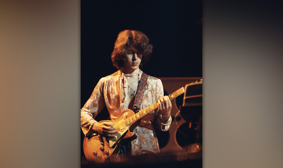 Guitarist Mick Taylor of the Rolling Stones performing on stage during their 1973 European Tour. (Photo by Michael Putland/Ge