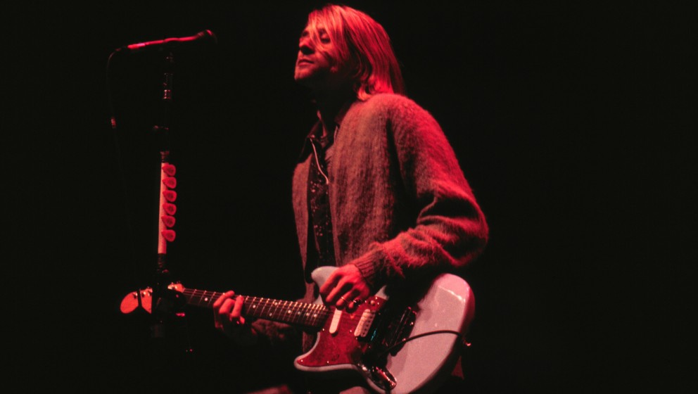 ST. PAUL, MN - DECEMBER 10:   Nirvana performs at the Roy Wilkins Arena in St. Paul, Minnesota on December 10, 1993. (Photo b