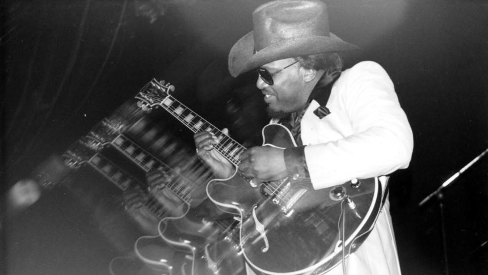 UNITED KINGDOM - JULY 08:  Photo of Otis Rush at the Town & Country Club, London on 7-8-88  (Photo by Charles Paul Harris