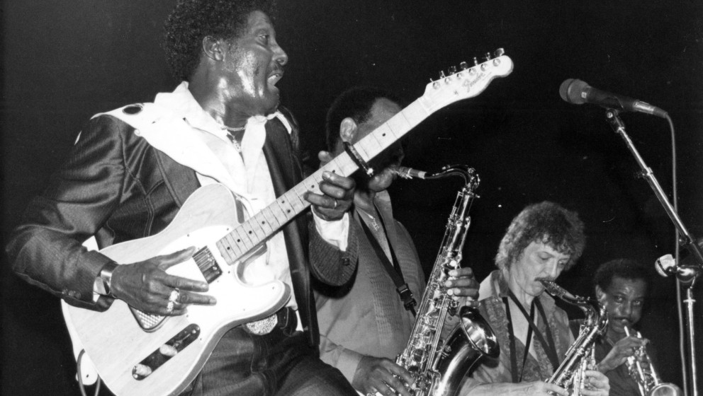 UNITED KINGDOM - CIRCA 1987:  Photo of Albert Collins at the Town and Country Club, London 1987  (Photo by Charles Paul Harri