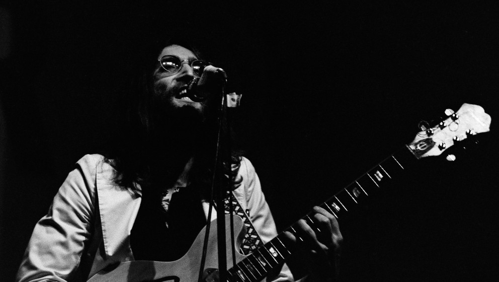 Beatle John Lennon (1940 - 1980) performing with the newly-formed Plastic Ono Band at the Lyceum Theatre, London, 1969. (Phot