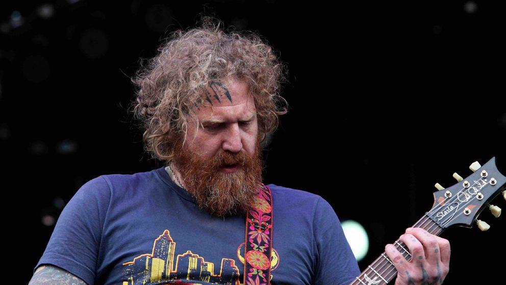 LOUISVILLE - OCTOBER 04:  Brent Hinds from Mastodon performs during the 'Louder Than Life' Music Festival in Champions Park o
