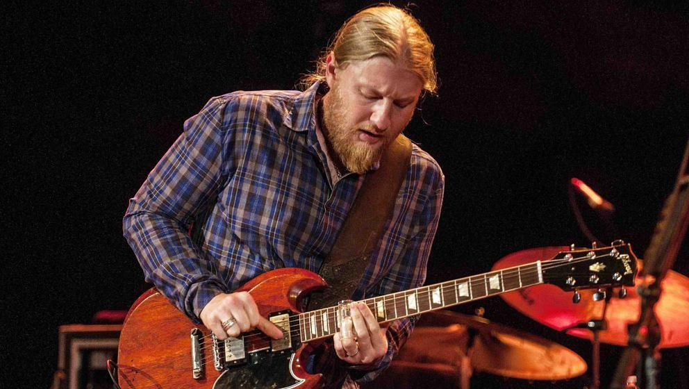 MORRISON, CO -  AUGUST 30:  Derek Trucks performing with the Tedeschi Trucks Band at Red Rocks Amphitheater in Morrison, Colo