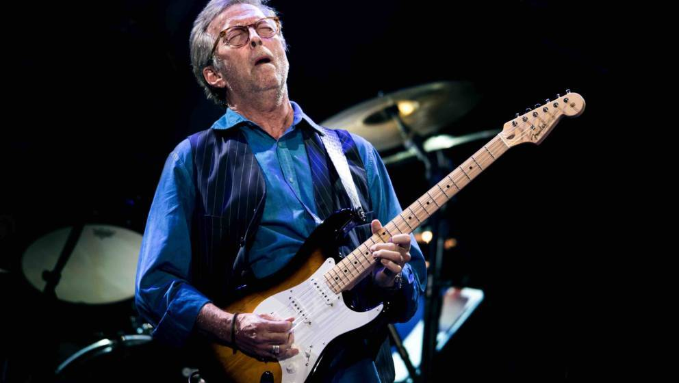 LONDON, ENGLAND - MAY 14:  Eric Clapton performs at Royal Albert Hall on May 14, 2015 in London, United Kingdom  (Photo by Ne