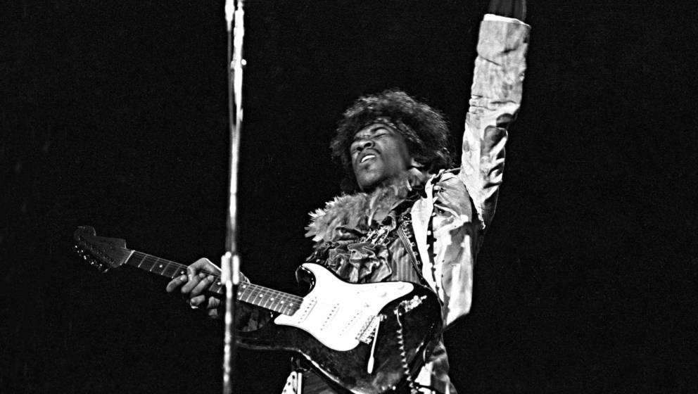 MONTEREY CA - JUNE 18: Jimi Hendrix performs onstage at the Monterey Pop Festival on June 18, 1967 in Monterey, California. (